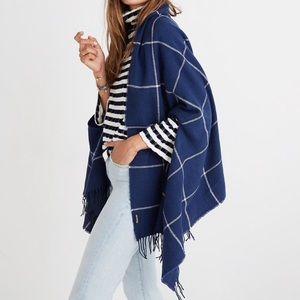 madewell   windowpane cape scarf